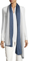 Loro Piana Aylit®; Pure Cashmere & Silk Gauze Stole, Denim Blue