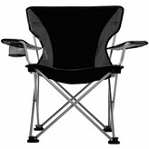 Easy Folding Camping Chair Travel Chair Cushion Color: Black
