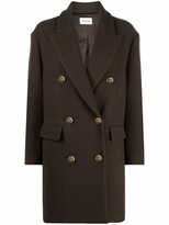 Thumbnail for your product : P.A.R.O.S.H. Double Breasted Wool Blend Coat