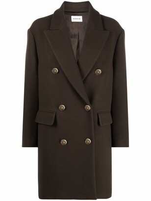 P.A.R.O.S.H. Double Breasted Wool Blend Coat