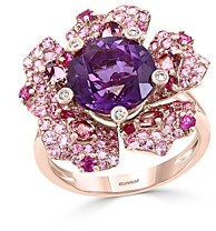 Bloomingdale's Multi-Gemstone & Diamond Flower Ring in 14K Rose Gold - 100% Exclusive
