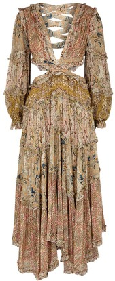 Zimmermann Freja Paisley-print Chiffon Maxi Dress