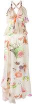 Blumarine tiered floral print gown - women - Silk/Spandex/Elastane/Polyimide - 42