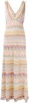 Missoni patterned deep V-neck dress - women - Silk/Polyester/Spandex/Elastane/Viscose - 40