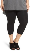 Lysse Plus Size Women's Control Top Capri Leggings