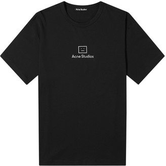 Acne Studios Reflective Logo Face T-shirt Black