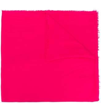 Faliero Sarti frayed wrinkled-effect scarf