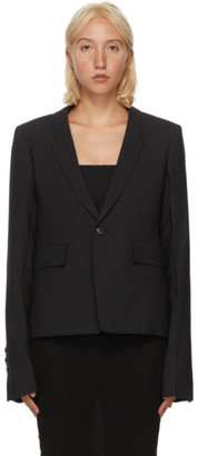 Rick Owens Black Wool Soft Blazer