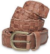 Liebeskind Basket Weave Leather Belt