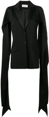 Esteban Cortazar Draped Slit Sleeve Blazer