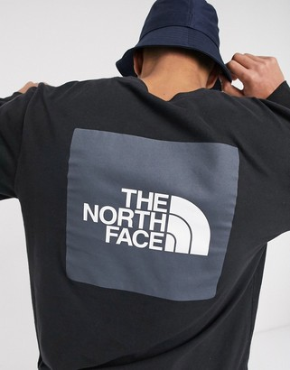 The North Face Red Box long sleeve t-shirt in black