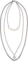 Lydell NYC Long Embellished Multi-Strand Necklace