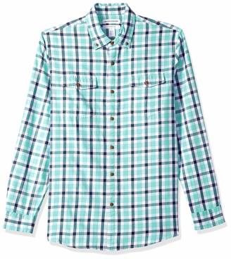 Amazon Essentials Men's Slim-Fit Long-Sleeve Two-Pocket Twill Shirt