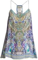 Camilla The Blue Market-print silk cami top