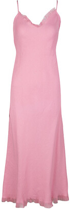 Ungaro Pink Linen Sleeveless Maxi Dress S