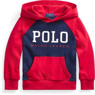 Ralph Lauren Logo Double-Knit Hoodie