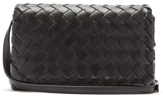 Bottega Veneta Intrecciato Leather Cross-body Bag - Black