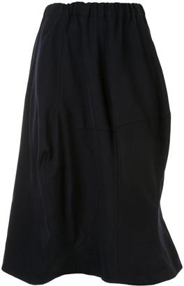 Comme des Garçons Comme des Garçons Panelled Midi Skirt