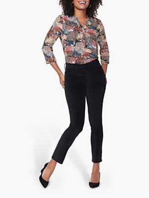 NYDJ Sheri Slim Leg Velvet Jeans, Black