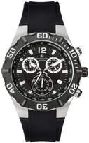 Accurist Men's Chronograph Steel Black Strap Watch