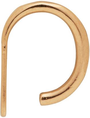 Saskia Diez SSENSE Exclusive Gold Wire Ear Cuff