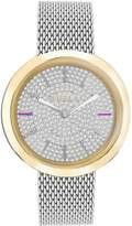 Furla women's wristwatch VALENTINA diamond dust dial effect 34 mm case