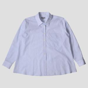 Margaret Howell Fine Stripe Swing Shirt - 8 (UK) | blue - Blue/Blue