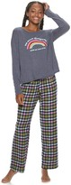 So Juniors' SO Pajama Top & Flannel Pants Pajama Set