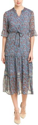 Hone Year Silk-Blend Midi Dress