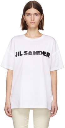 Jil Sander White Poplin Logo T-Shirt