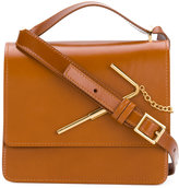 Sophie Hulme satchel with gold-tone hardware - women - Leather - One Size