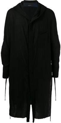 Ziggy Chen draped cardigan coat