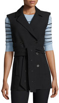 Veronica Beard Cruiser Double Breasted Vest, Black