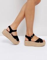 Boohoo Espadrille Platform Sandal