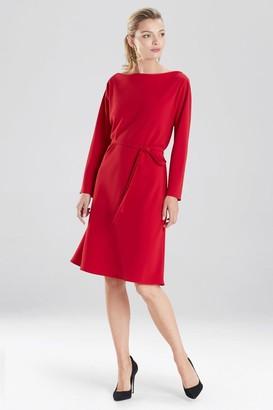 Natori Solid Crepe Dress