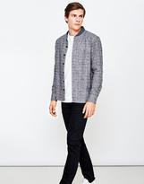 YMC Delinquents Flannel Baseball Shirt Grey