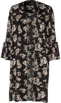 River Island Womens Black burnout floral print duster coat