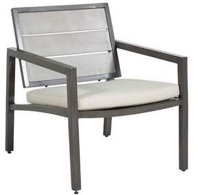 Riviera Summer Classics Patio Chair with Cushions Summer Classics Cushion Color: Brighton Solid Snow