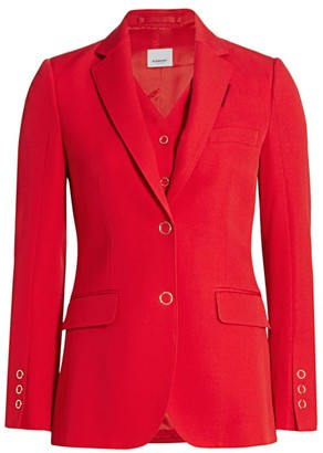 Burberry Ornella Layered Wool Jacket