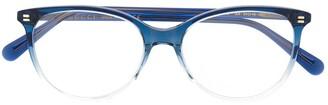Gucci Gradient Soft Round-Frame Glasses