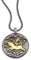Konstantino 18K Yellow Gold & Sterling Silver Zodiac Taurus Pendant