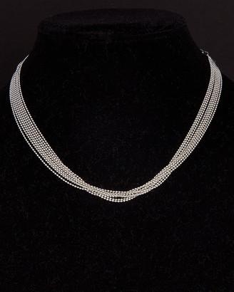 Italian Silver 8-Strand Bead Choker Necklace