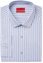 Alfani Men's Fitted Performance Blue Dobby Check Dress Shirt, Only at Macy's