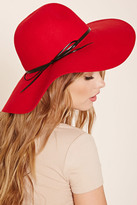 Forever 21 FOREVER 21+ Faux Leather-Trimmed Floppy Hat