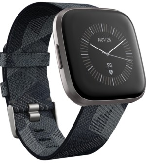 Fitbit Versa 2 Smoke Fabric Strap Touchscreen Smart Watch 39mm - A Special Edition