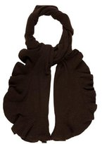 Magaschoni Cashmere Ruffle-Accented Scarf w/ Tags