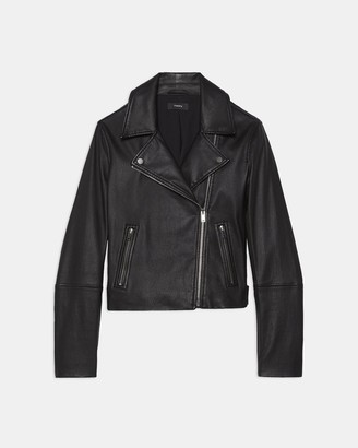 Theory Moto Jacket in Leather