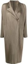 Pleats Please Issey Miyake Single Button Pleated Light Coat