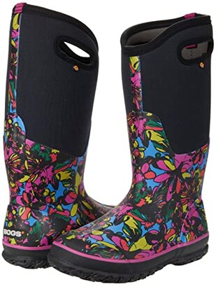 Bogs Classic Tall Wild Flower (Black Multi) Women's Boots