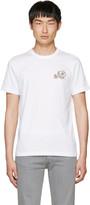 Moncler White Double Logo Patch T-shirt